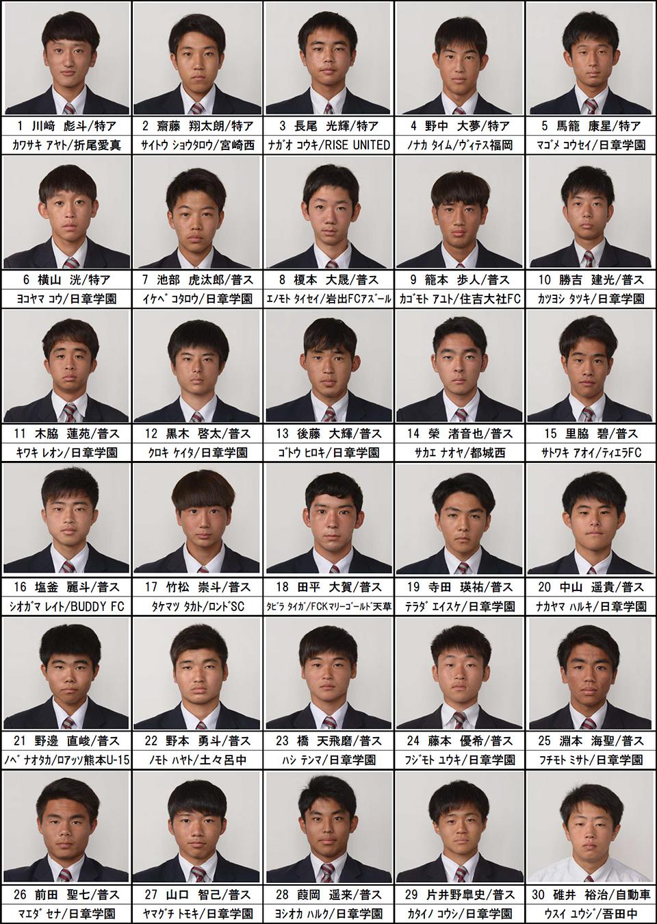 メンバー紹介(2020年度高校2年生)